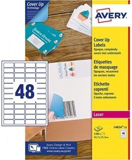 Boîte d'étiquettes de masquage blanc L4614-25 - Avery®