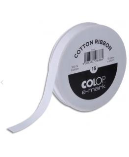 Bobine de ruban en coton pour E-Mark® 15 mm x 25 m - Colop®