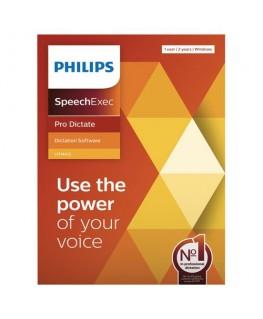 Logiciel SpeechExec Pro Dictate 11 - clé de licence physique pour 2 ans LFH4422/00 - Philips