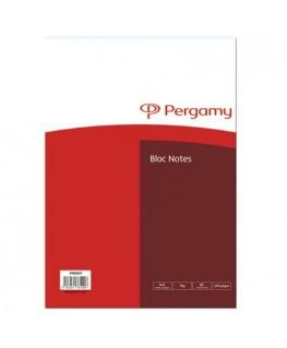 Bloc de bureau A5 70g 200 pages 5x5 feuilles détachables en tête encollée - Pergamy