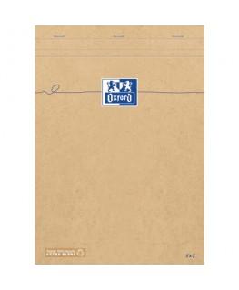 Bloc agrafé en tête Touareg 180 pages A4+, couverture kraft recyclée - Oxford