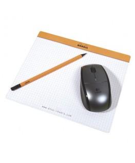 Bloc de direction/tapis souris orange 30 feuilles 19 x 23 cm réglure 5x5 - Rhodia®