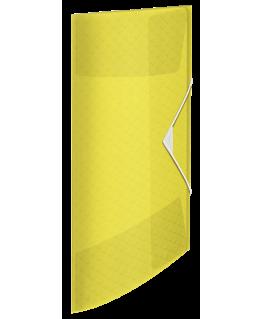 Chemise 3 rabats élastique Colour'Ice, en polypropylène jaune - Esselte®