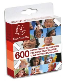 Boîte distributrice de 600 coins photos autocollants cristal - Exacompta