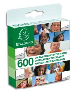 Boîte distributrice de 600 pastilles autocollants double face - Exacompta