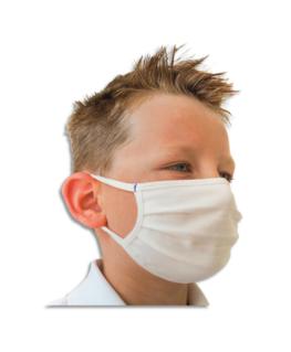 Lot de 2 masques enfants de 7 à 12 ans lavables (120 lavages)