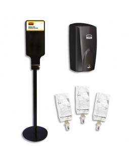 Kit 1 borne distributeur AutoFoam sans contact + 3 recharges de nettoyant sans alcool - Rubbermaid®