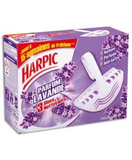 Boîte de 3 blocs cuvette WC parfumé à la lavande - Harpic®