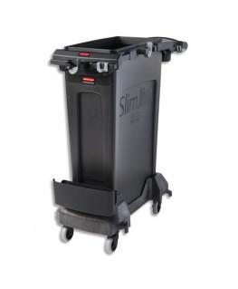 Chariot de ménage Slim Jim avec porte-accessoires, livré nu - Rubbermaid®