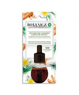 Recharge 19 ml parfum Vétiver des Caraïbes et bois de Santal pour diffuseur Botanica - Air Wick