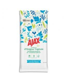 Paquet de 50 lingettes Sanitaire biodégradables, fraîcheur Freesia - Ajax