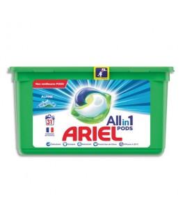 Boîte 31 doses de lessive liquide, parfum Alpine - Ariel