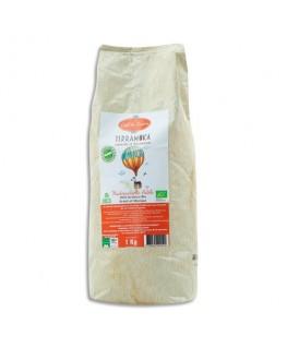 TERRAMOKA Paquet d'1kg de Café bio en grains Arabica du Brésil et du Mexique
