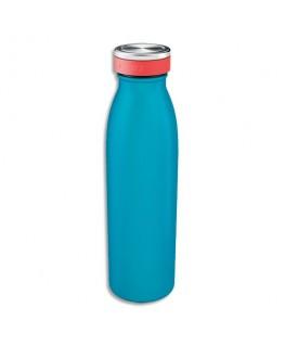 LEITZ Bouteille isotherme 500 ml Cosy Bleu, boissons chaudes 7H et froides 15H - D6.8 x H23.5 cm