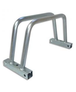 VISO Rack à vélos unitaire modulable en acier zingué Gris, fixations inclus - Dim : L40 x H22 x P15 cm