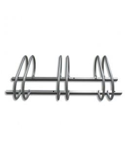 VISO Support 3 vélos en acier Gris pour modèles standards, fixations inclus - Dim : L115 x H25 x P51 cm