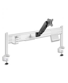 UNILUX Portique de bureau Ergo Station, support bras d'écran, 3 accessoires, à pinces, L125 x H40 cm