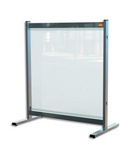 NOBO Séparateur de bureau film en PVC transparent, Médium, sur pied mobile - Dim : L77 x H86 x P41 cm