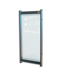 NOBO Extension de séparation modulaire pour bureau film PVC transparent, Small - Dim : L40 x H82 x P40 cm