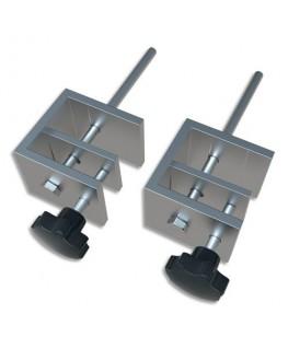 NOBO Set de 2 pinces de fixation pour séparateur film en PVC, pour bureau d'une épaisseur de 1,5 à 3 cm