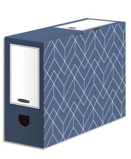 BANKERS BOX Boîte archives dos de 10 cm HEAVY DUTY DESIGN. Montage manuel. Coloris bleu