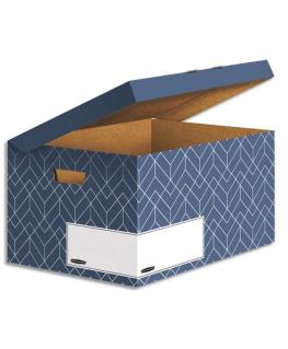 BANKERS BOX Conteneur archives HEAVY DUTY DESIGN. Montage manuel. Coloris bleu