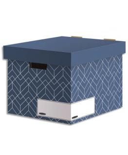 BANKERS BOX Caisse archives HEAVY DUTY DESIGN. Montage manuel. Coloris bleu