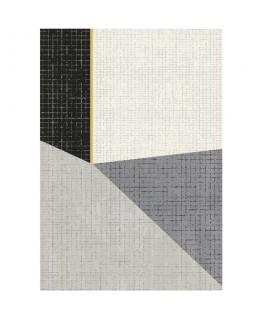 Tapis Canvas en polypropylène multicolore, tissage velours - Paperflow