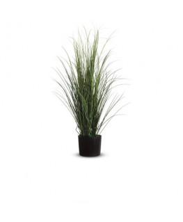 PAPERFLOW Plante artificielle fagot d'herbe feuillage en PVC Vert, livré dans pot standard, Hauteur 80 cm