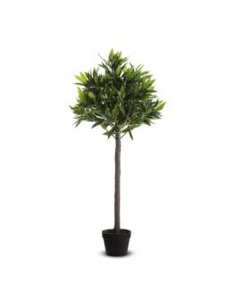 PAPERFLOW Plante artificielle Olivier feuillage en polyéthylène Vert, pot standard, Hauteur 125 cm