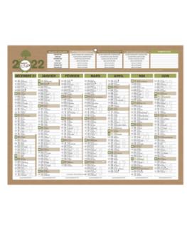 Calendrier Natura 100% recyclé, 7 mois - CBG
