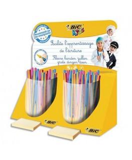 Présentoir de 80 pièces de stylos bille Twist et de crayons graphite Beginners - Bic®