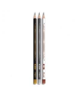 Crayon graphite HB tête trempée Maped® BLACK'PEPS DECO