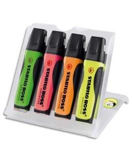Pochette de 4 surligneurs Stabilo® BOSS® Original EXECUTIVE coloris assortis
