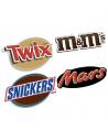 Mars, m&m's, Snickers, Twix